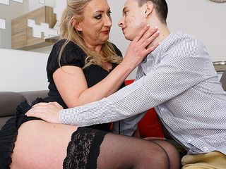 super-naughty toyboy gets to love a fur covered mature labia