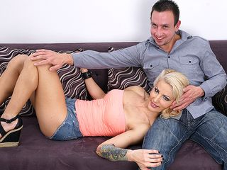 Molten scorching COUGAR porking and deep-throating