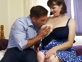 Married woman with big, saggy tits likes to get fucked from the back, until she cums