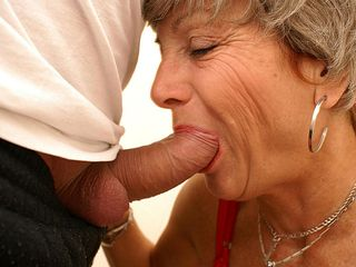 With her crimson panyties on mummy gets pounded on a public restroom