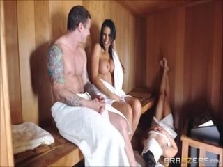 sneaky sauna  and porn