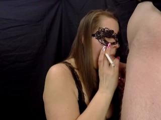 'SEXY WIFE GIVES SMOKIN BLOWJOB - CUM ON BIG TITS'