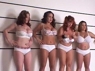 BBW four girls playing