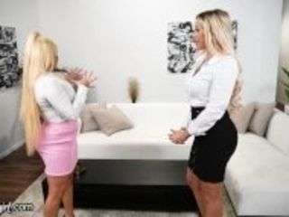 """""""MommysGirl Real Estate Agent Nina Elle Goes Wild With A MILF & Her Stepdaughter"""""""