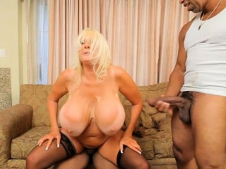 Fat chest milf interracial increased by creampie