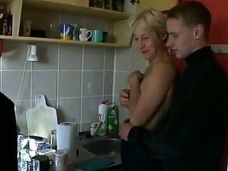 Mature mom fucked by two young sons