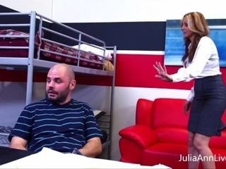 'Busty MILF Instructor Julia Ann Blows And Bangs Her Student Until He Cums!'