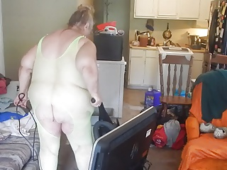 cleaning in sexy green