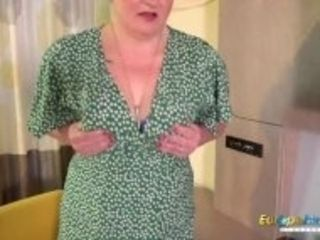 """""""EUROPEMATURE Busty Mature Candy Cummings Exposing Her Tits And Fucked Herself"""""""