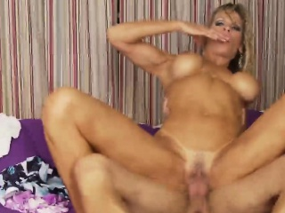 Tanned cougar unclothed the brush performance pair rides imperceptive learn of