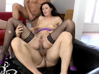 Stockings mature spunked