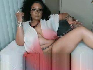 Hispanic lustful mommy thrilling webcam masturbation clip