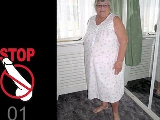 Huge Granny Melons Jerk off Challenge to the Beat - hot solo collection