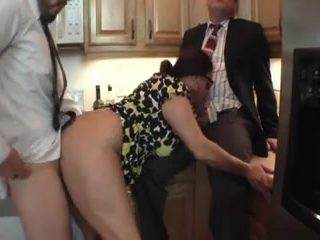 Milf Enjoy Two Cock In Kitchen Room