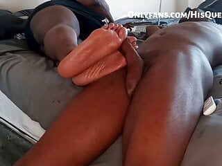 HisQueenSuga iqnores her slave while teasing his big cock