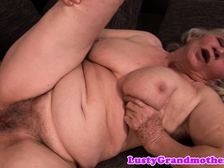 Big grandma jizzed essentially muted pussy