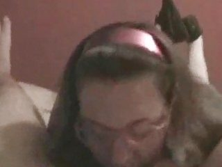 Blowjob with cumshot on wife39s pink glasses