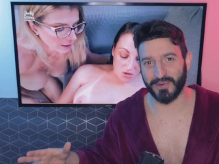 'Horny MILF Step Aunt with Big Tits is Fucked while Stuck to my Desk - Melanie Hicks (REACTION)'