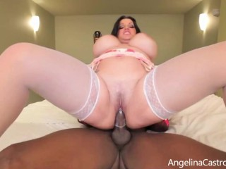 'Erotic Tease! Goddess Angelina Castro Gets Her Pretty Plump Pussy Pounded!'