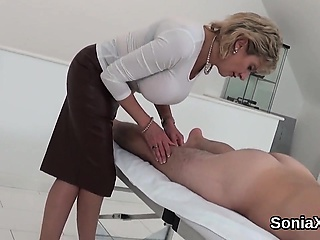 Unfaithful british milf lady sonia presents her huge natural