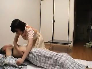 Busty Japanese housewife with a fabulous ass can't resist a