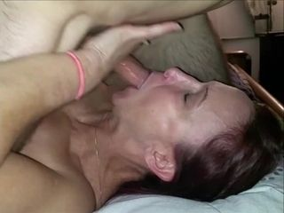 'Boyfriend watches Milf repay debt to cheating neighbor gets face fucked'