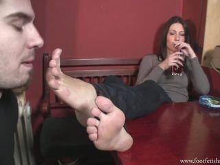 Nylon Feet Worship - Femdom Kinky Porn