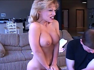 Mega boobs milf fucked with sex toy