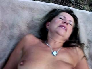 Young Guy Seduce 75yr old Grandma to Outdoor Fuck near Beach