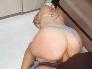 Homemade anal sex with mature stepmom in her big ass