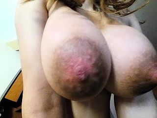 Beamy titted mart housewife milf sucking increased by rubs their way jugs