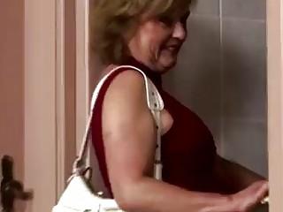 Dirty mature toiletslut face pissed
