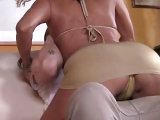 Hot cougar Tara Holiday attacks a fellow for a cock riding session
