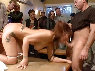 MILF fisted and anal fucked in public