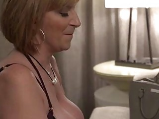 Insatiable blonde milf with big, firm tits, Sara has hooked up with Kyle just to get fucked