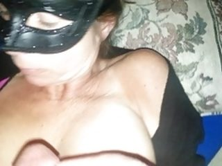 AMATEUR DOUBLE SHOT ON WIFEY'S BREASTS