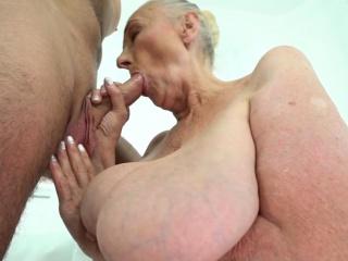 Chubby grandma frowardness jizzed